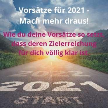 Vorsätze für 2021